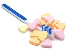 Cepillo de dientes y caramelos