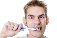 Hard brushing